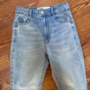 Garage skinny high rise jeans
